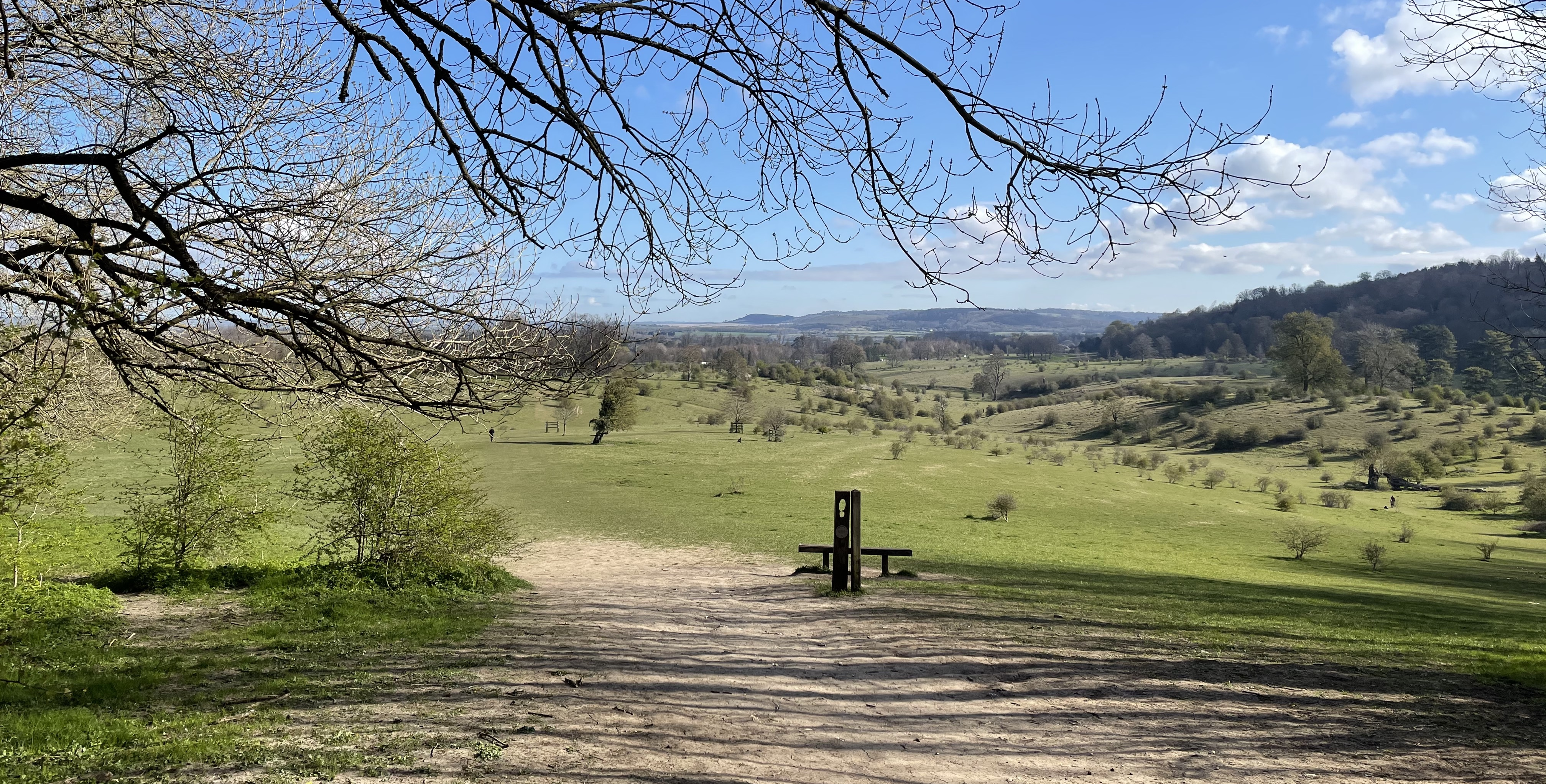 Far reaching views from Tring Park